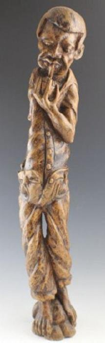 American Folk Art Carved Tree Root Figure