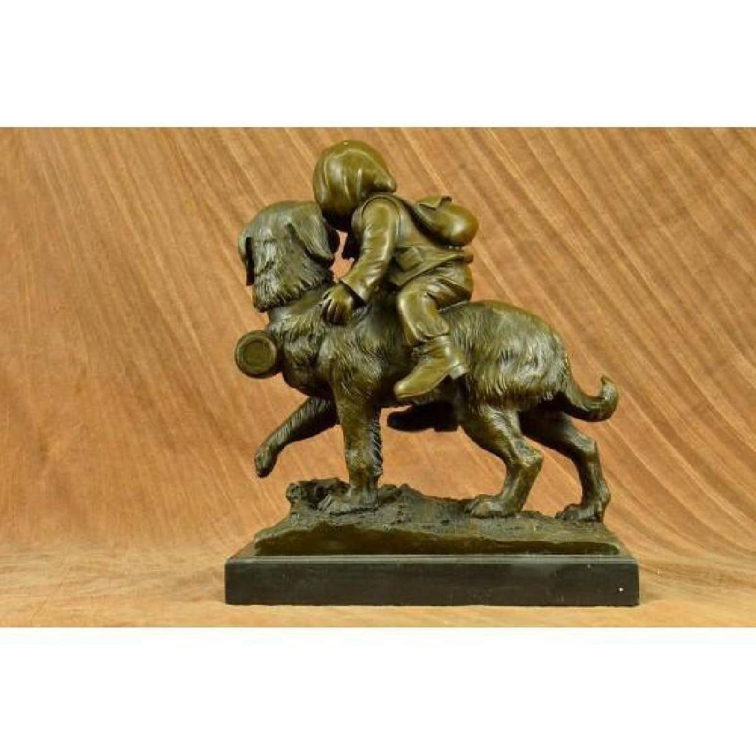 Chien Du St. Bernard by Guadez French Artist Bronze