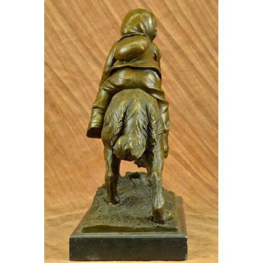 Chien Du St. Bernard by Guadez French Artist Bronze - 3