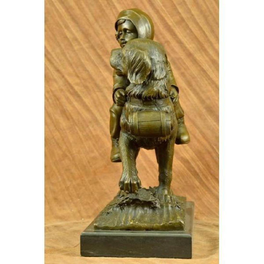 Chien Du St. Bernard by Guadez French Artist Bronze - 4