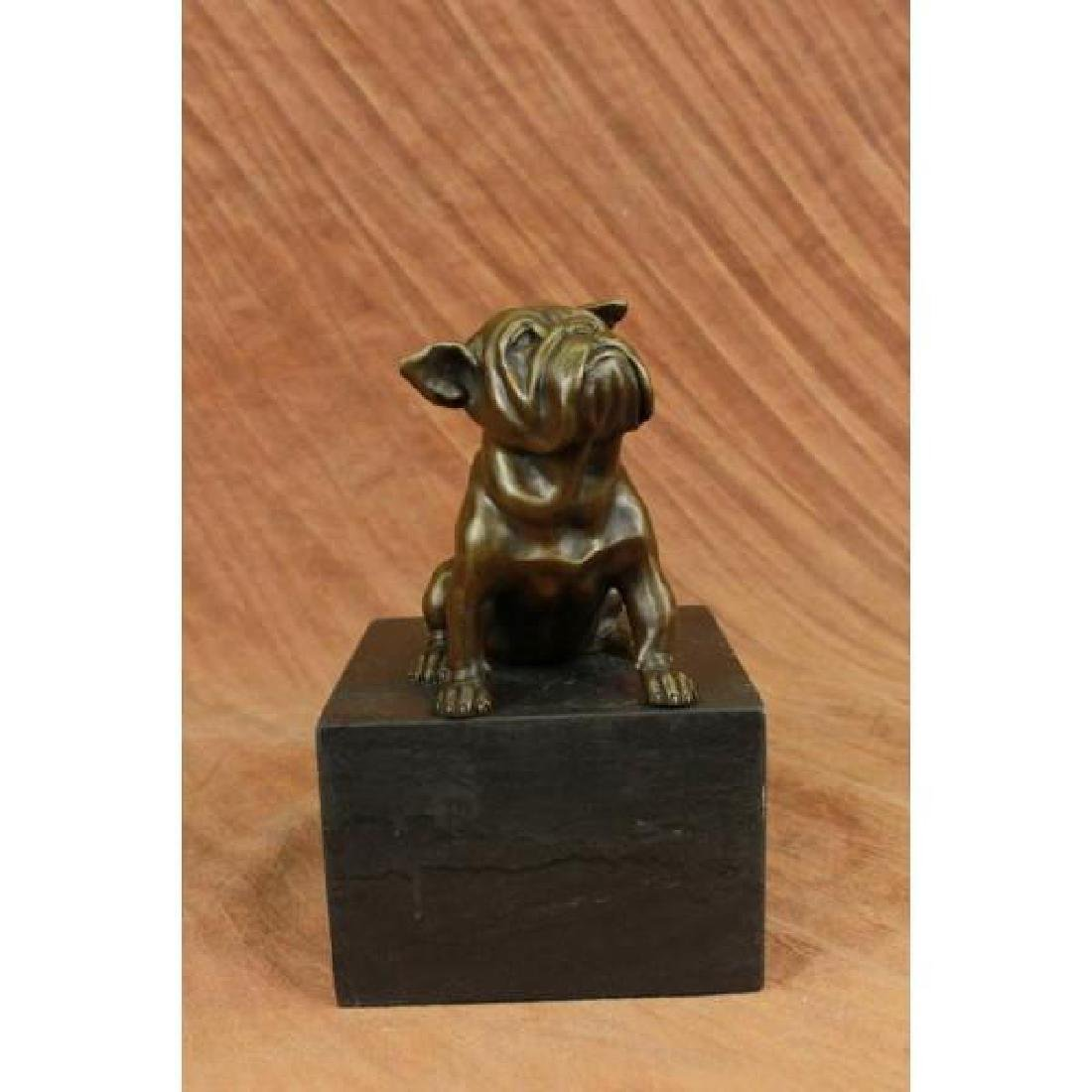15 LBS English Bulldog Dog Animal Bronze Sculpture