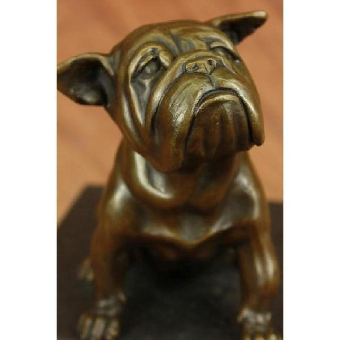 15 LBS English Bulldog Dog Animal Bronze Sculpture - 2