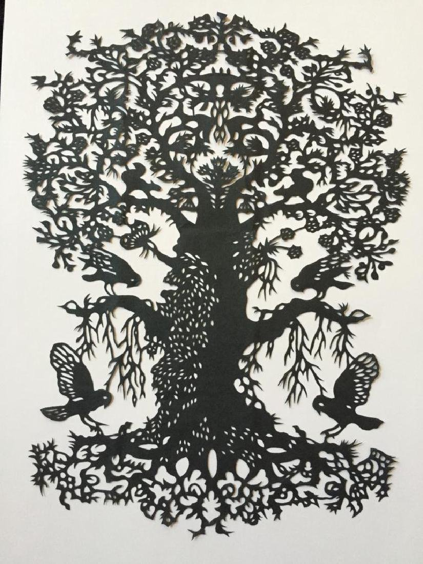 Hand-made Paper Cut Silhouette, Tree Of Life
