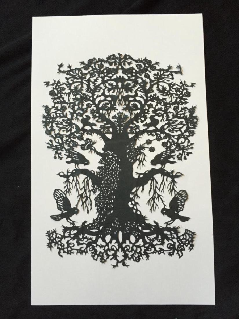 Hand-made Paper Cut Silhouette, Tree Of Life - 2