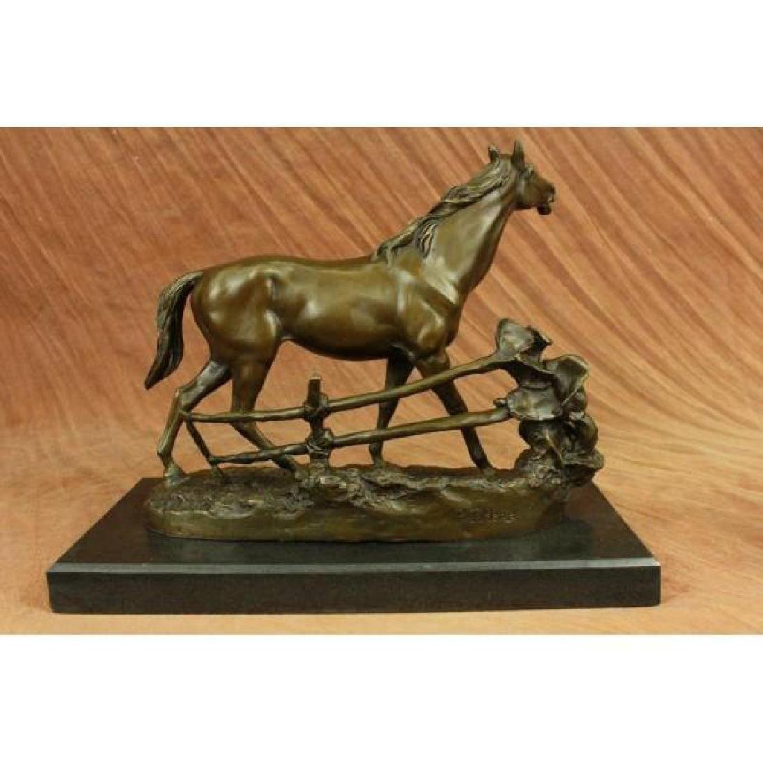 Whinny Stallion Arabian Horse by Mene Bronze Sculpture - 3