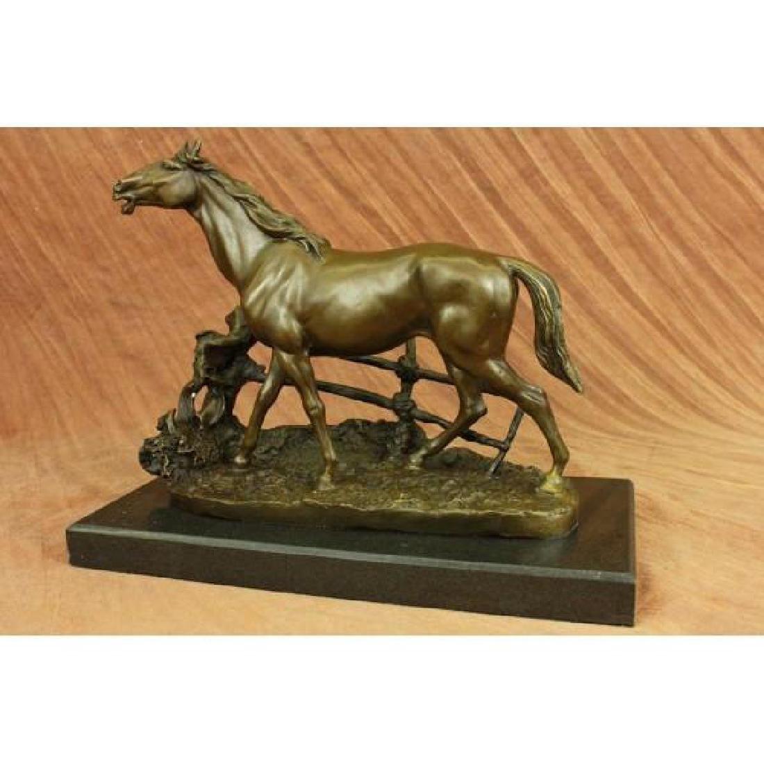 Whinny Stallion Arabian Horse by Mene Bronze Sculpture - 4