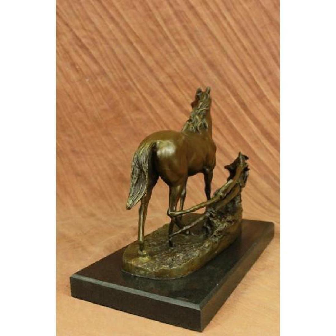Whinny Stallion Arabian Horse by Mene Bronze Sculpture - 5