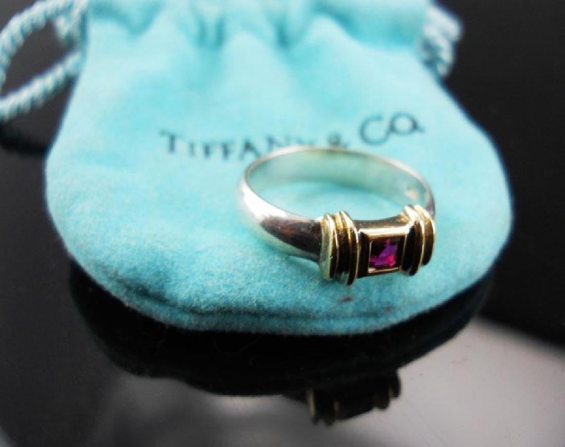 Tiffany & Co. 14kt & Sterling Ruby Ring