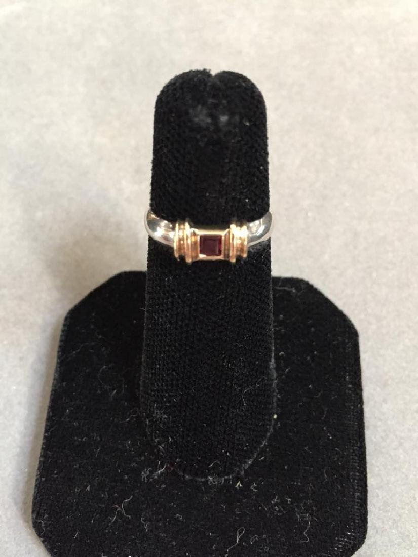 Tiffany & Co. 14kt & Sterling Ruby Ring - 2