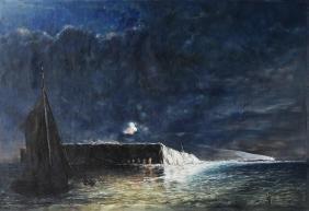 After Conrad Chapman, Night Bombardment Painting
