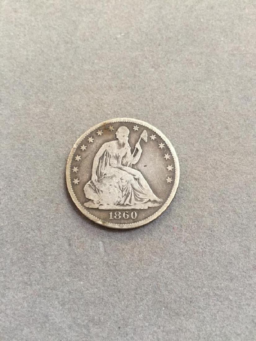 1860 O Seated Liberty Silver Half Dollar Coin