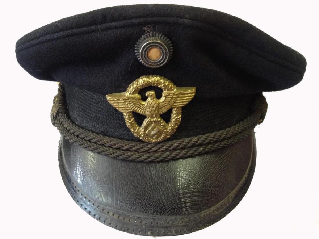 Nazi German WWII Police Peaked Cap