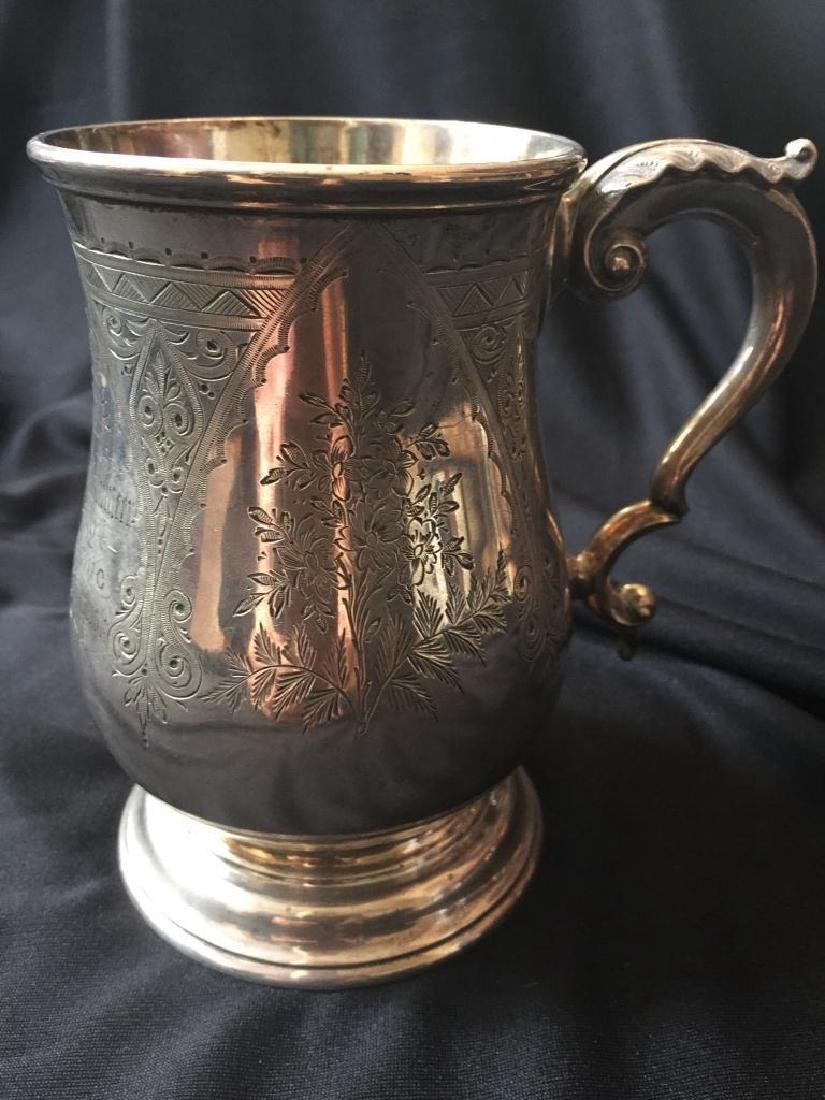 19thc Sterling Presentation Shooting Trophy