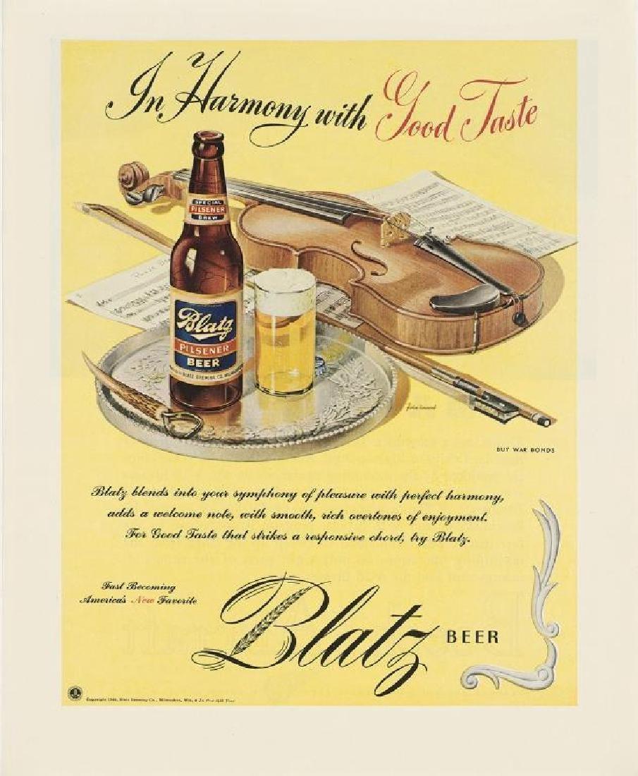 1945 Blatz Beer, Violin Symphony, Advertisement