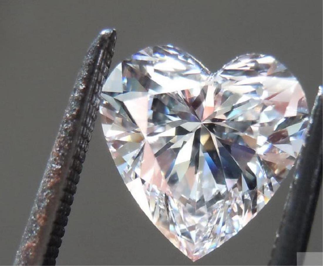 2ct Heart Facet Cut BIANCO Diamond