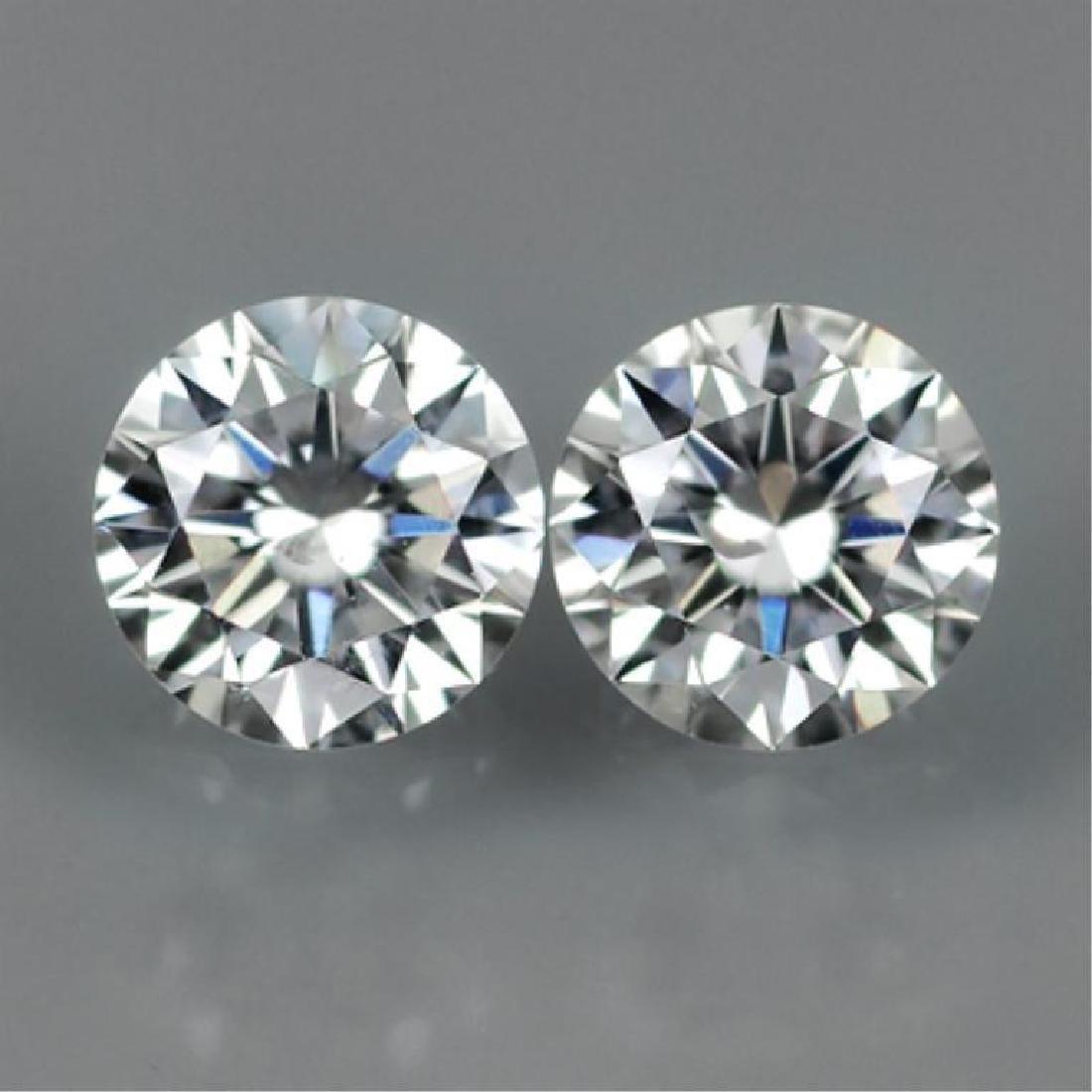 Pair, 4ct ( 8 ctw ) Brilliant Cut BIANCO Diamonds