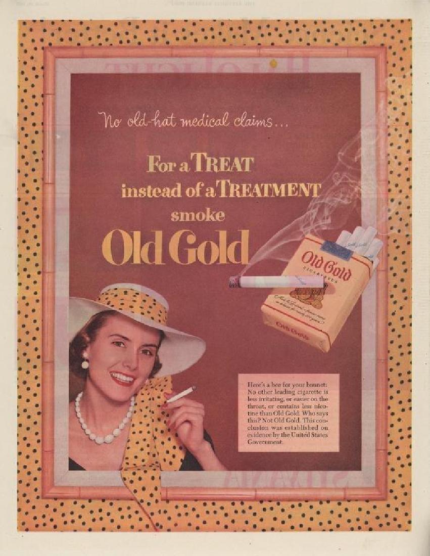 Original 1952 Old Gold Cigarette Advertising Art