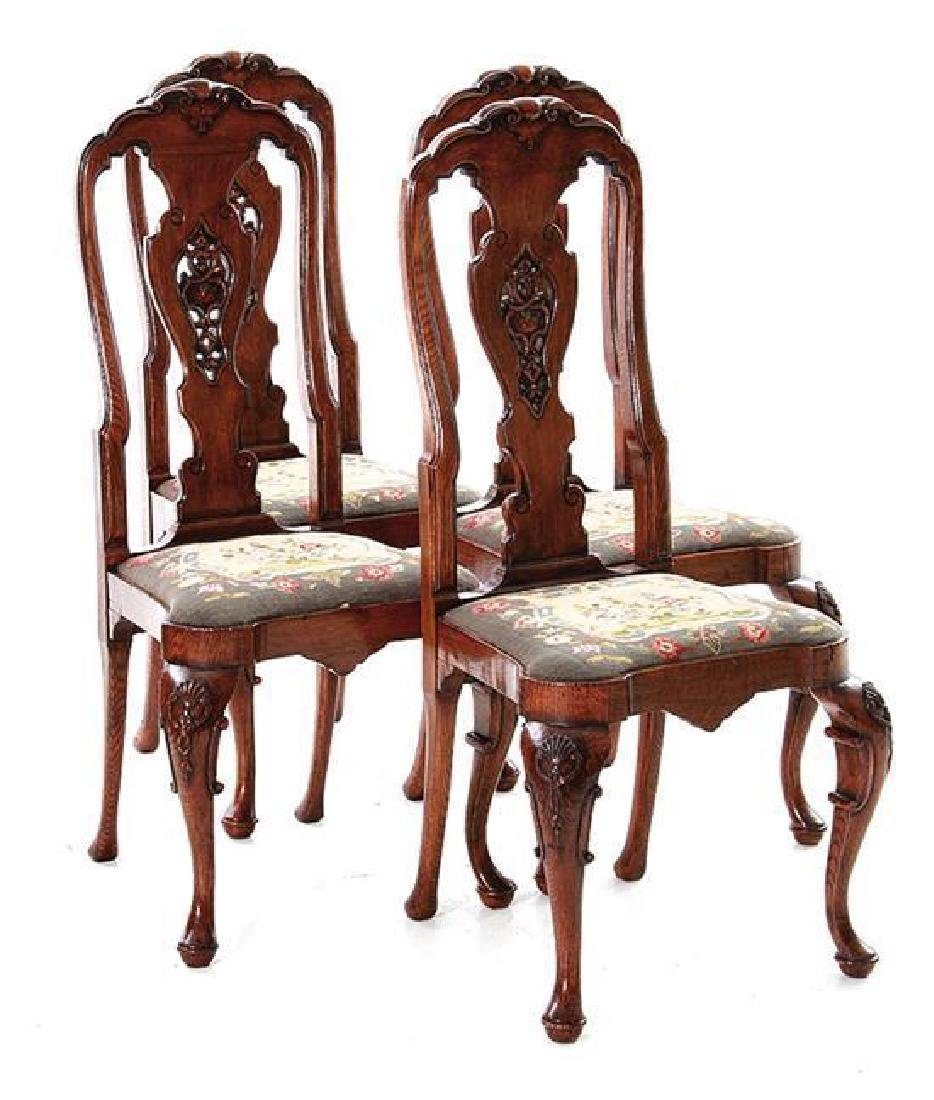 Set of Four Queen Anne-style Side Chairs
