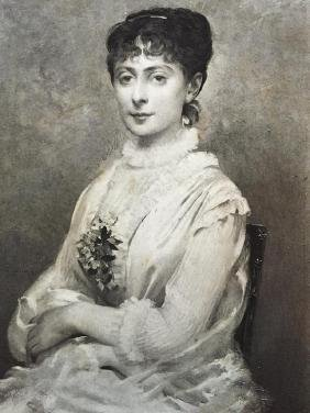 19thc Photogravure Print, French Theater Actress