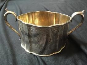 19thc London Hallmarked Sterling Sugar Bowl