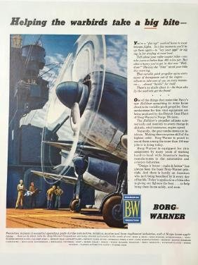 1945 Borg-Warner Engineering WWII Warbird Ad