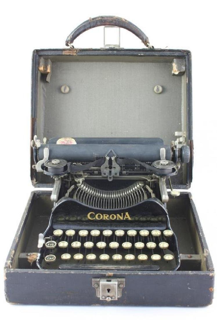 c1915 Corona Portable Folding Typewriter