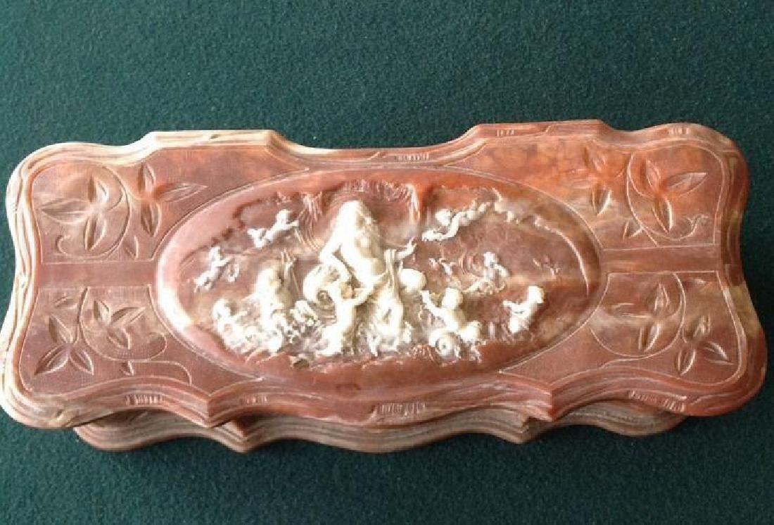 Vintage Genuine Inoclay Stone Jewelry Box