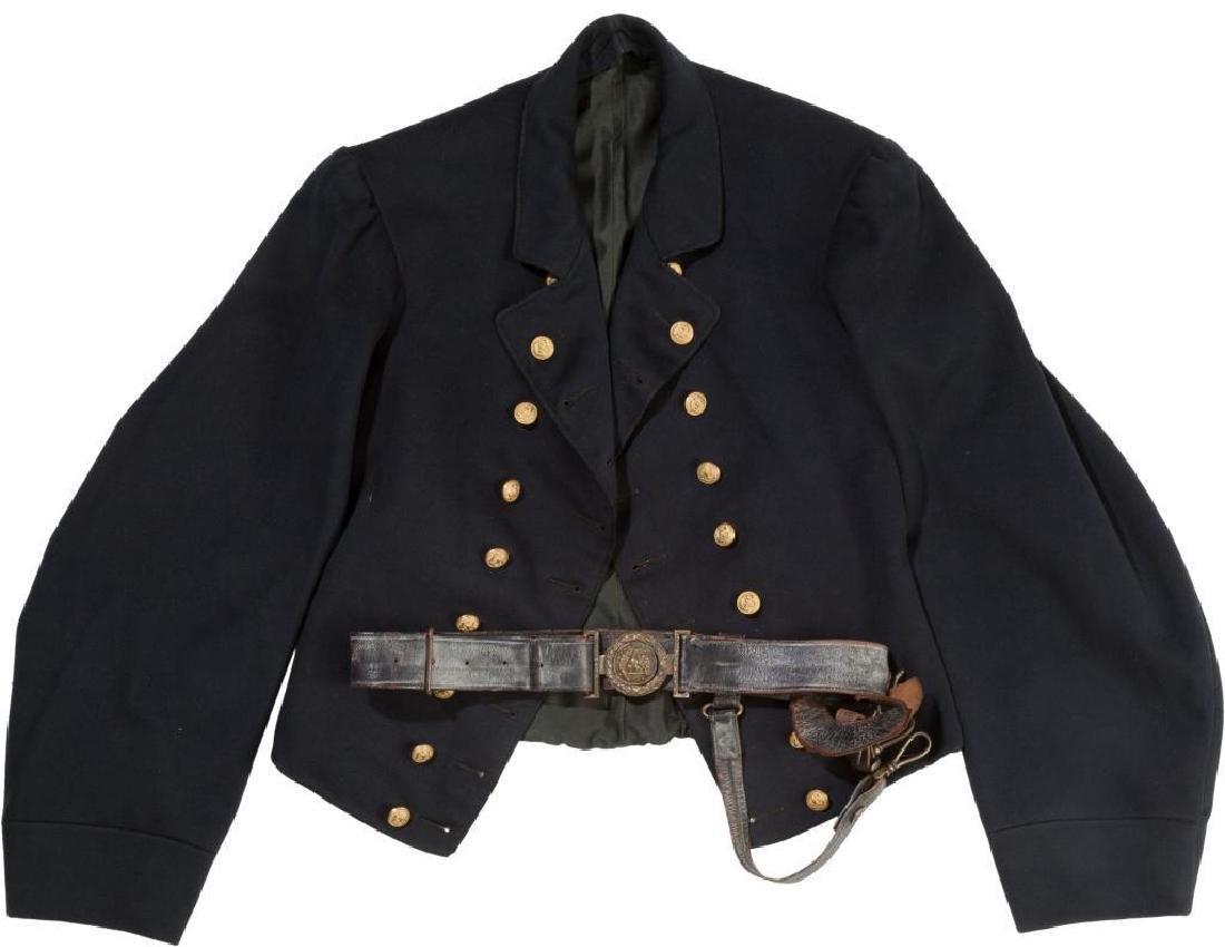 Original Civil War Navy Officer's Jacket & Belt