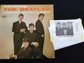 Authentic 1963 Beatles Signature & Album