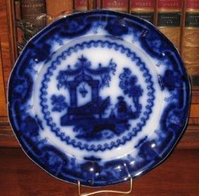 1845 T.J. & J. Mayer Flow Blue Oregon Plate