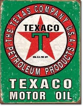 Vintage Style Texaco Metal Advertising Sign