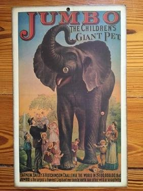 Jumbo Barnum Bailey Circus Advertising Print
