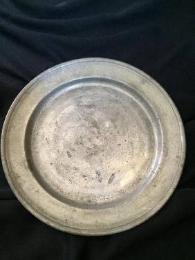 c1780 German Colonial Pewter Plate