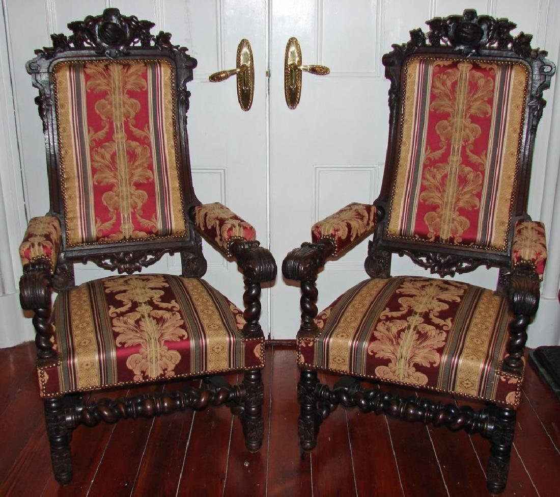 Pair of 19thc Victorian Arm Chairs