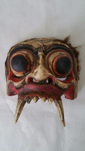 Antique Hand-carved Balinese Demon Mask