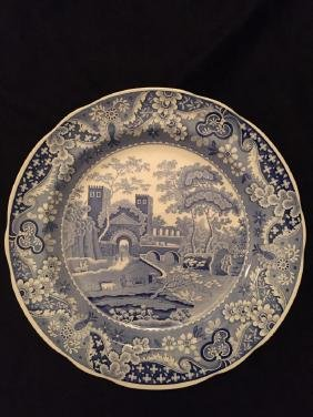 Spode Blue Room Castle Plate