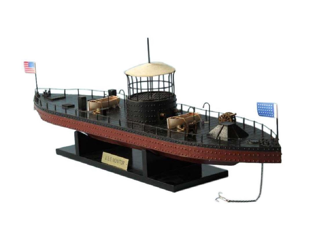 USS Monitor Limited Ironclad Model Warship