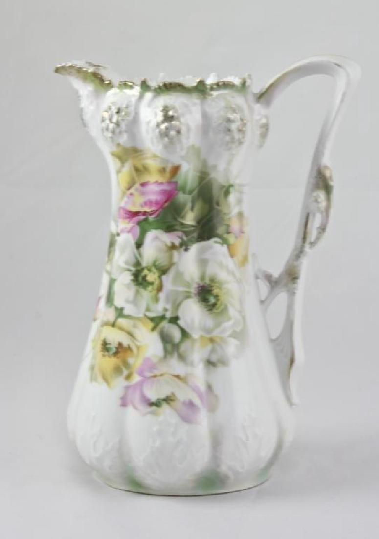 19thc R.S. Prussia Porcelain Chocolate Pot Pitcher