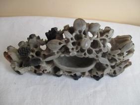 Chinese Soapstone Bixi Brush Wash Carving