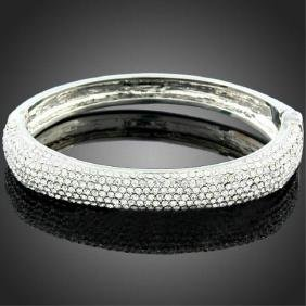 Sparkling Swarovski Crystal Bangle Bracelet