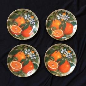 French Limoges Oranges Fruit Plates