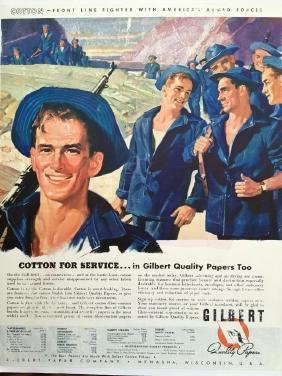1942 Gilbert Papers, WWII Armed Forces, Cotton Ad
