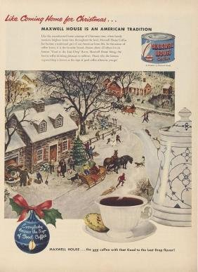 1941 Maxwell House Coffee Christmas Advertisement