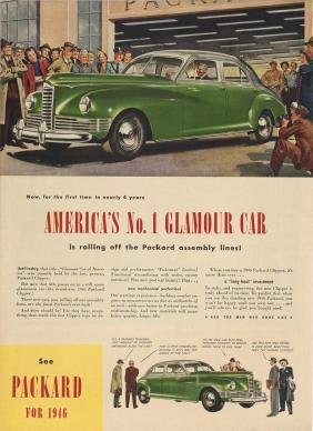 1946 Packard Post WWII Car Ad