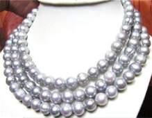 "50"" HUGE AAA 11-13mm South Sea Baroque Gray Pearl 14kt"