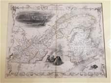 1849 Map of East Canada & New Brunswick