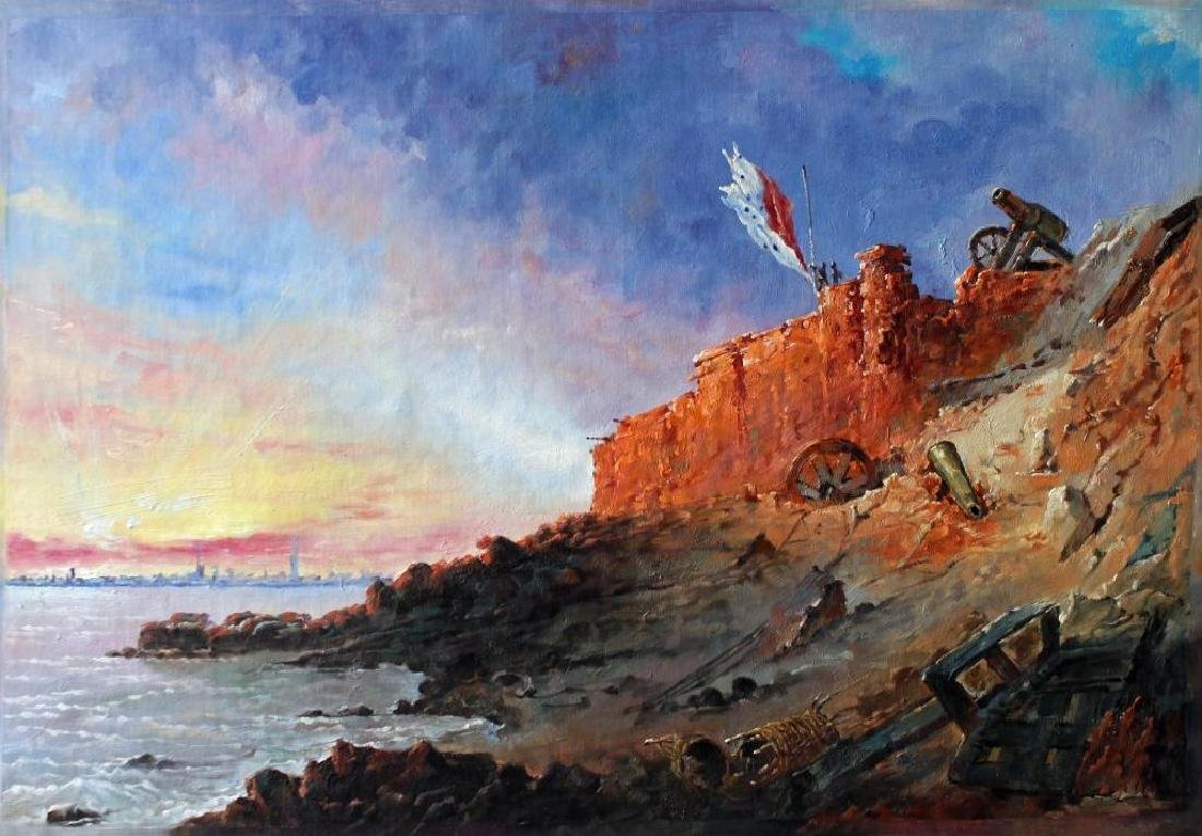 After Chapman, Evening Ft Sumter Painting