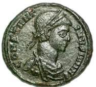 Ancient Roman Bronze Coin Follis Constantine II