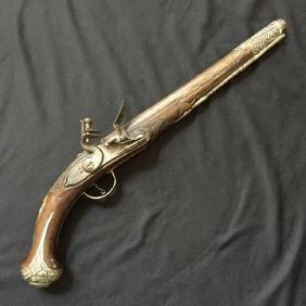Late 18thc Monogramed Flintlock Pistol
