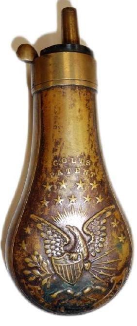 Colt's Patent Copper Pistol Flask